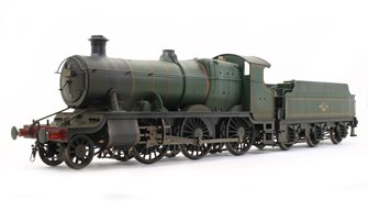 Custom Finished  Class 43xx Mogul 2-6-0 in BR lined green with late crest - Weathered