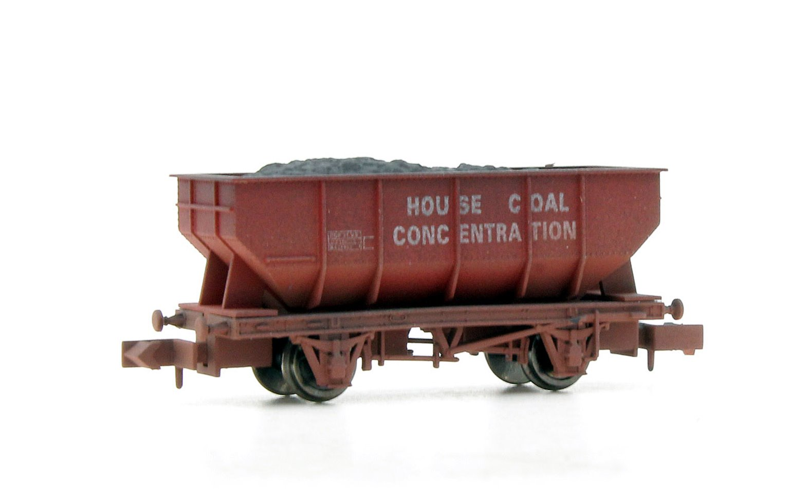 Dapol 2F-034-056 21-ton hopper B429912 in House Coal concentration livery - weathered