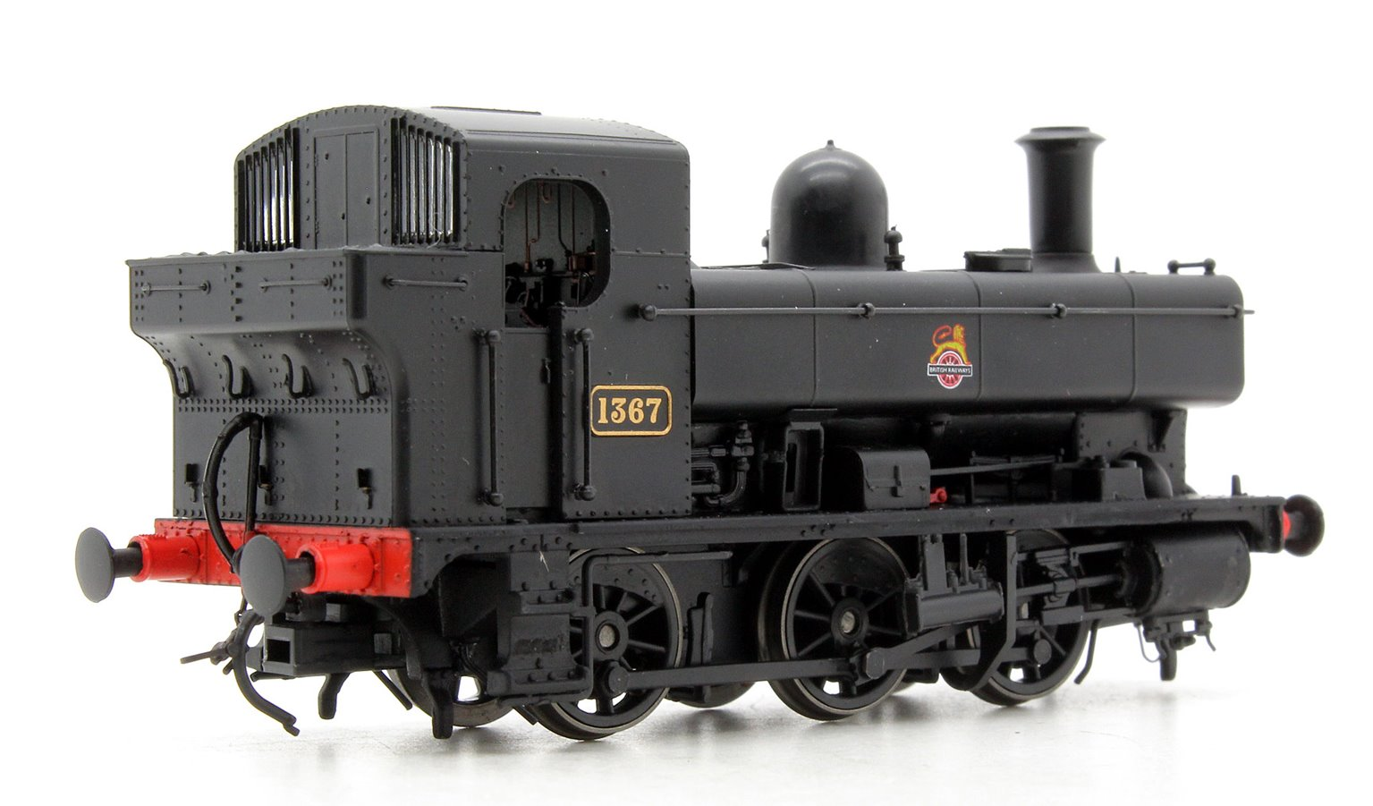 Class 1366 0-6-0PT 1367 in BR black with early crest