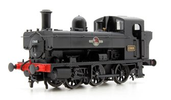 Class 1366 0-6-0PT 1368 in BR black with late crest