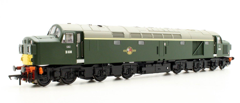Class 40 D338 BR Green Split Head Code Small Yellow Panel Diesel Locomotive