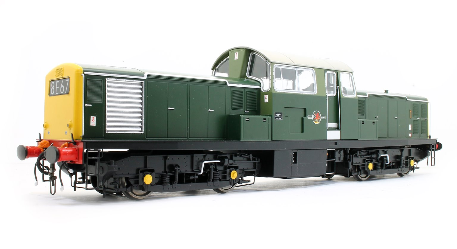 Class 17 Clayton BR green unnumbered (full yellow end)