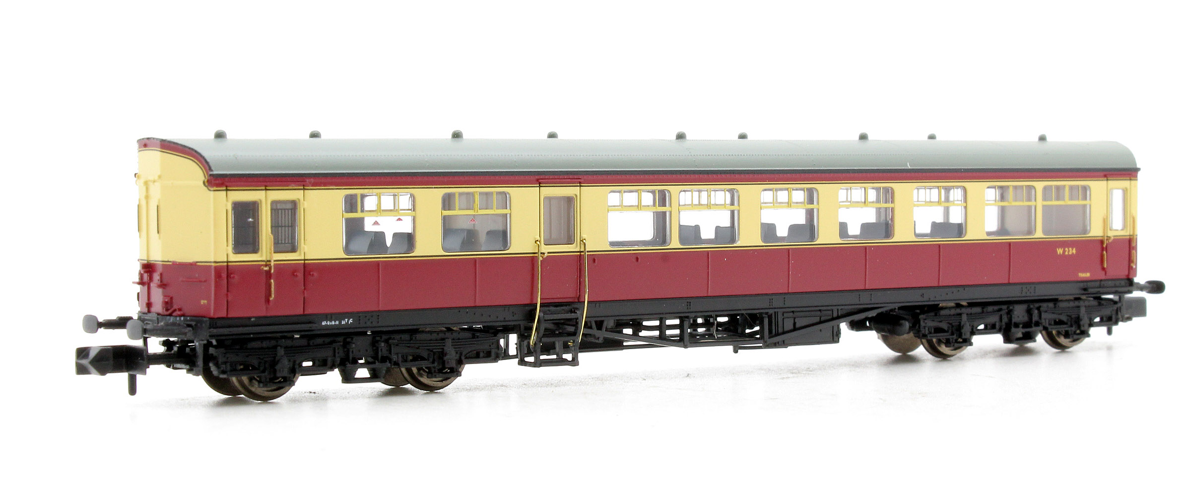 Model Railways & Trains 374-610 Graham Farish N Gauge Auto Trailer Br Crimson & Cream Weathered