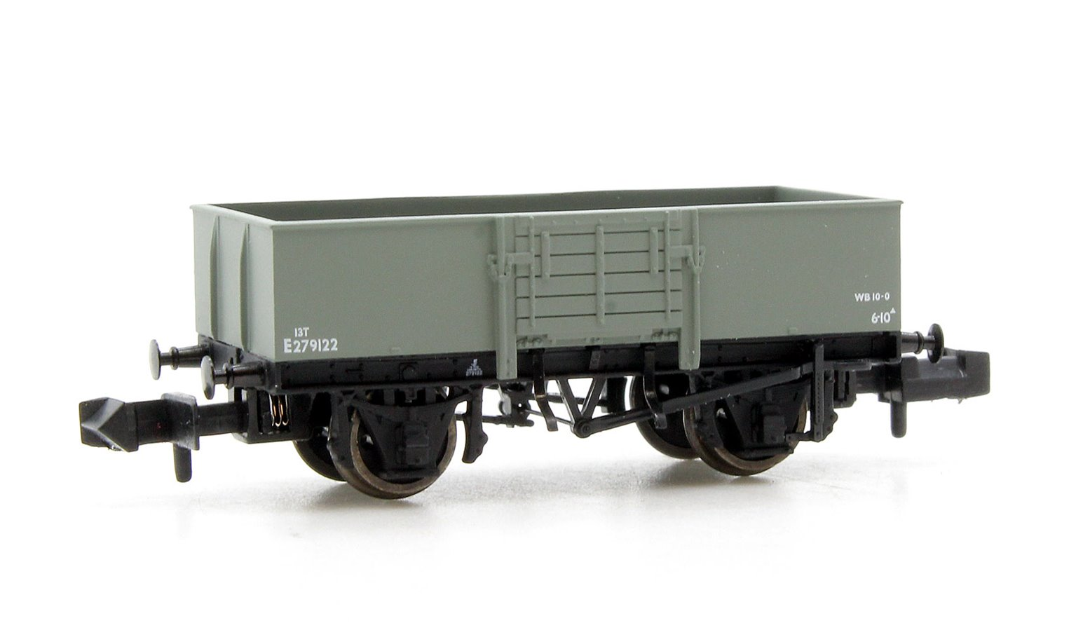 13 Ton High Sided Steel Wagon with Wooden Door BR Grey