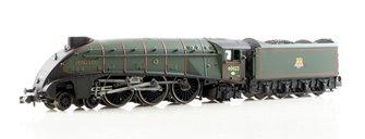 "Class A4 steam locomotive 60022 ""Mallard"" in BR green with early crest & double chimney"