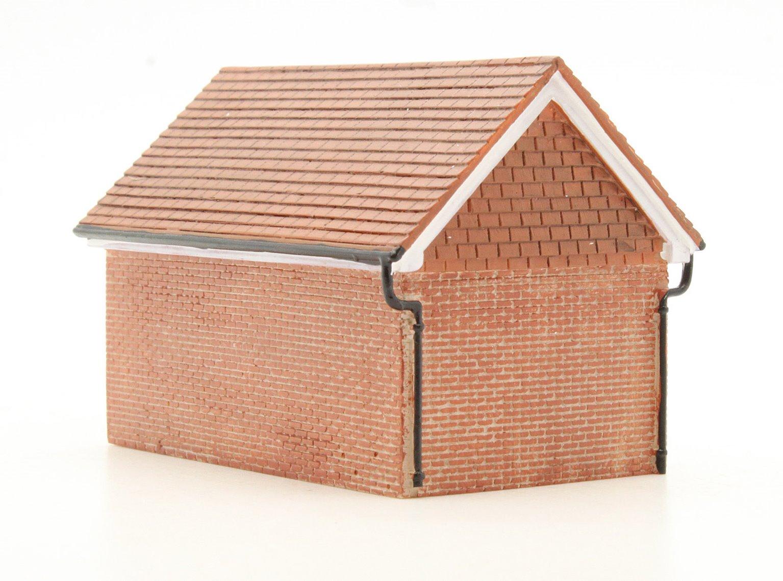 R9826 hornby skaledale r9826 detached brick garage oo for Brick garages prices