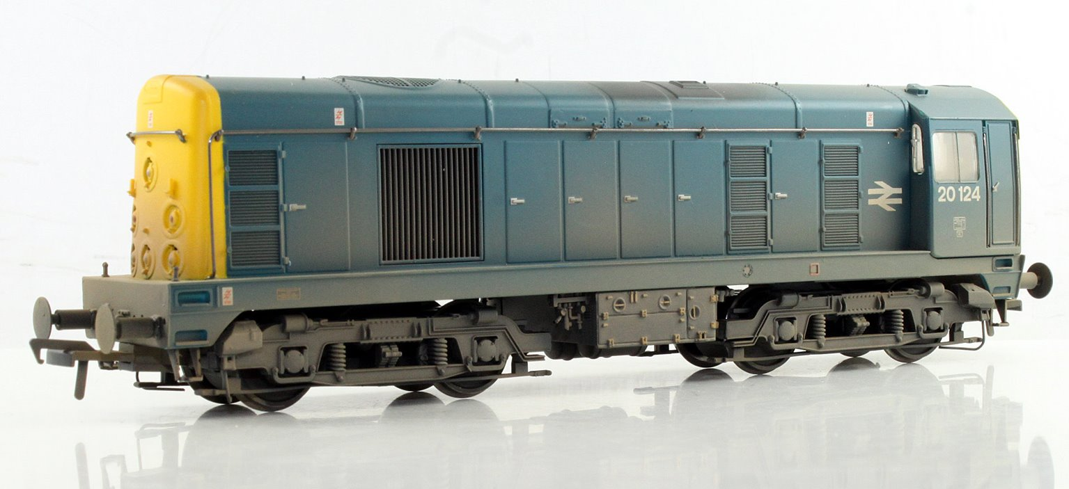 Class 20 #20124 BR Blue Indicator Disks - Weathered - SOUND