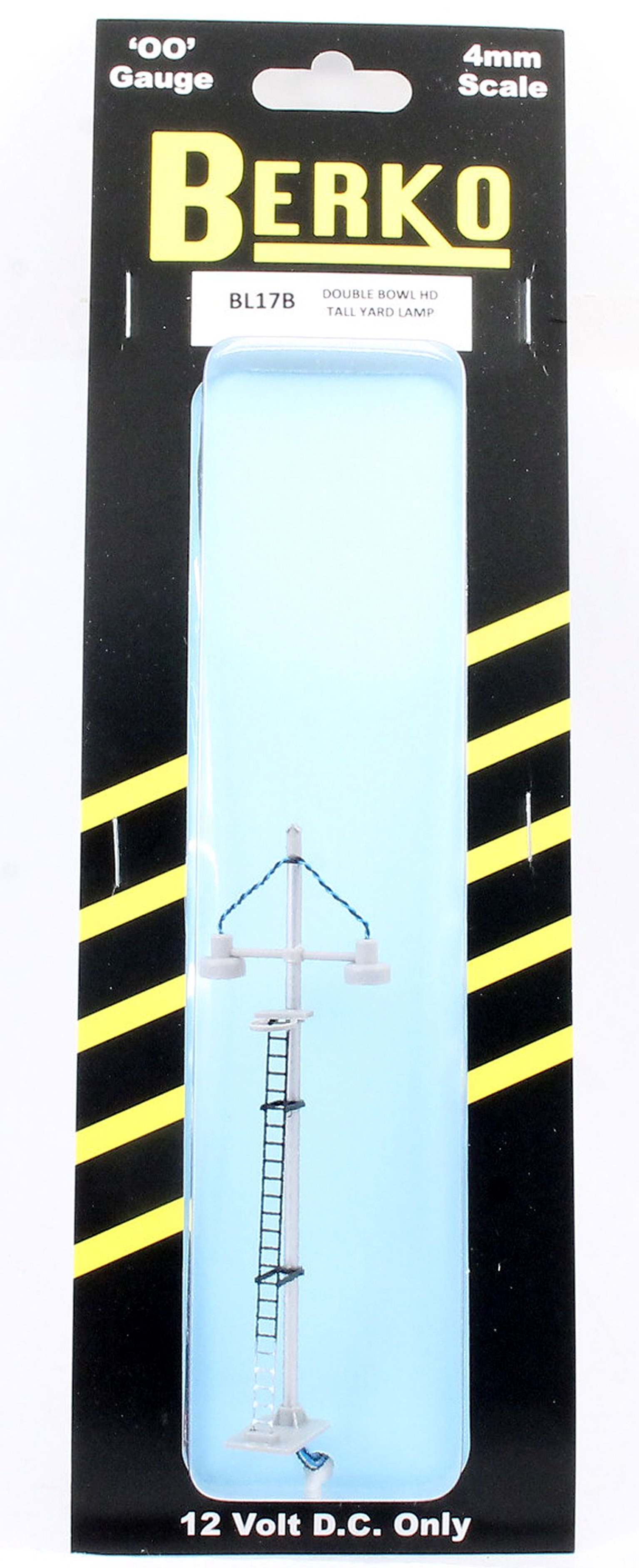 ECKON double bowl head tall yard lamp (Black Ladder with White bas