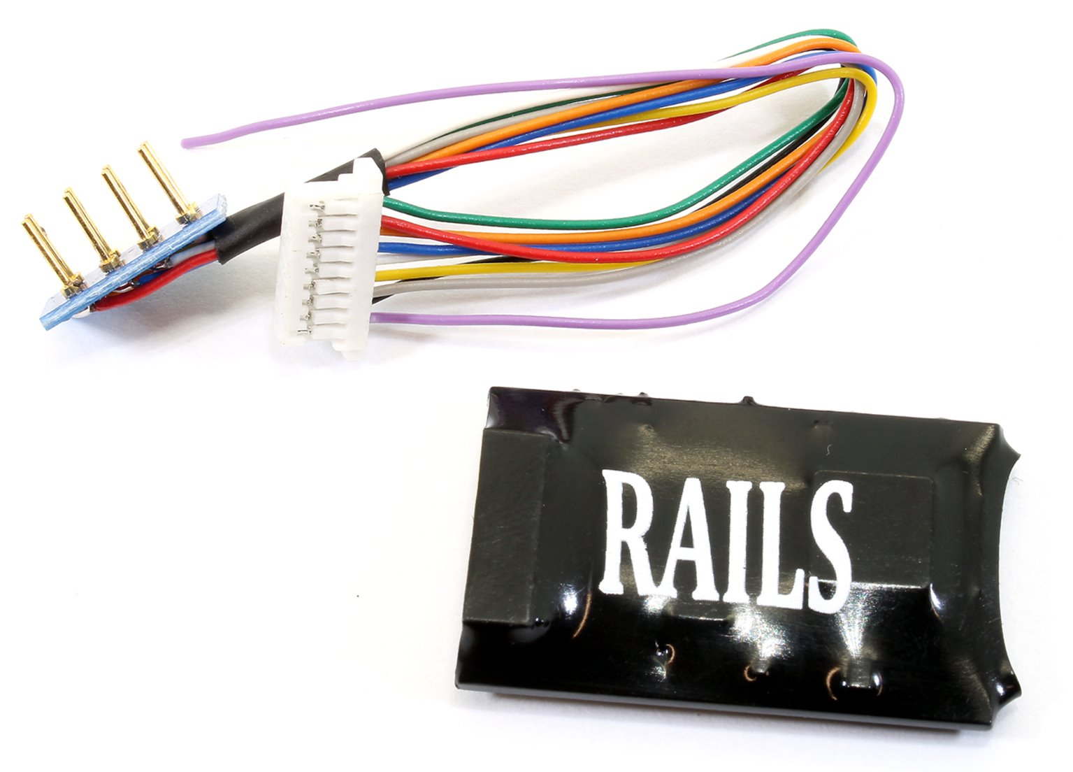 Rails Connect Decoder,  High Powered 8 Pin Harness 4 Function Decoder