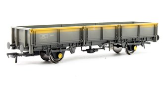 ZDA Bass Dropside Open Wagon BR Grey & Yellow - Weathered