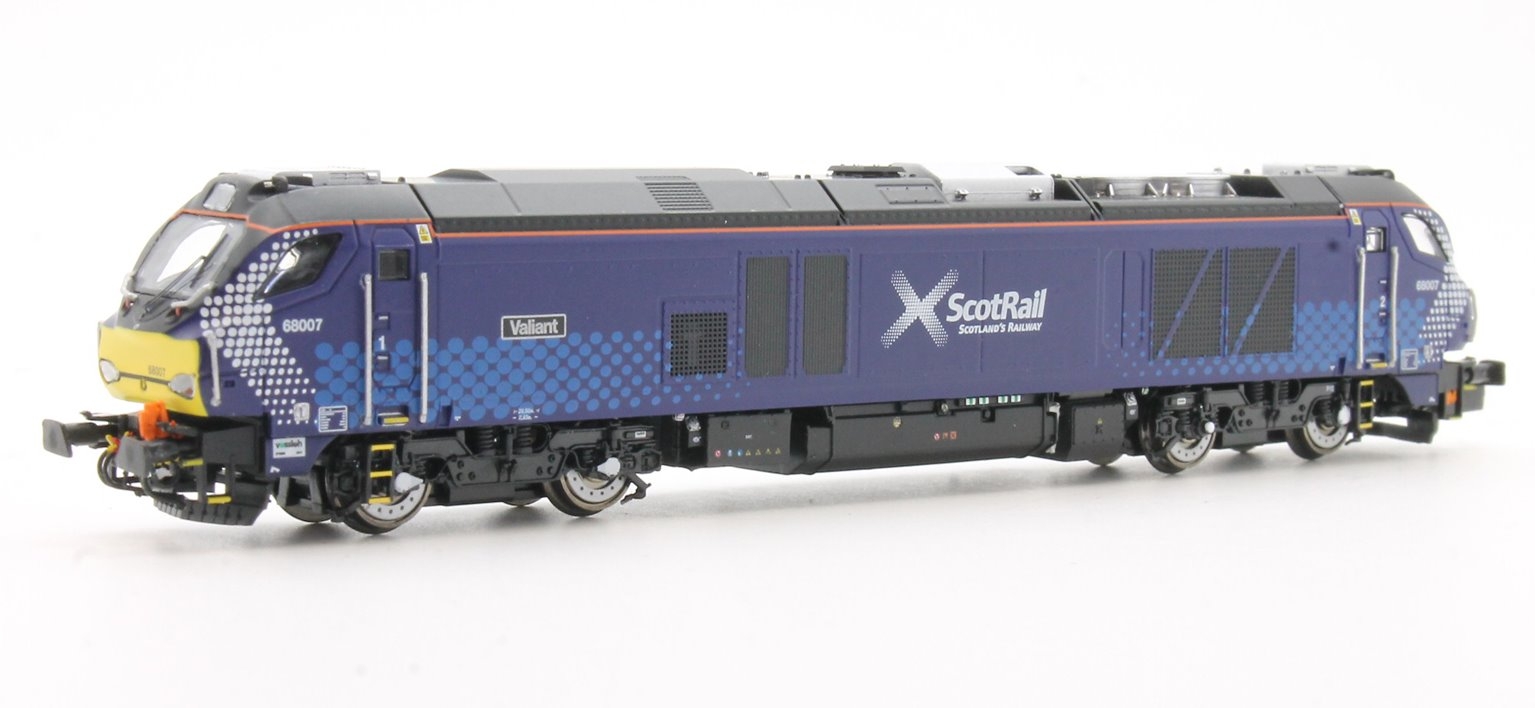 "Class 68 007 ""Valiant"" Scotrail livery Diesel Locomotive"