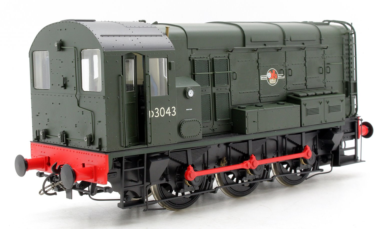 Class 08 #D3043 BR Green Late Crest No Warning Panels Diesel Shunter Locomotive
