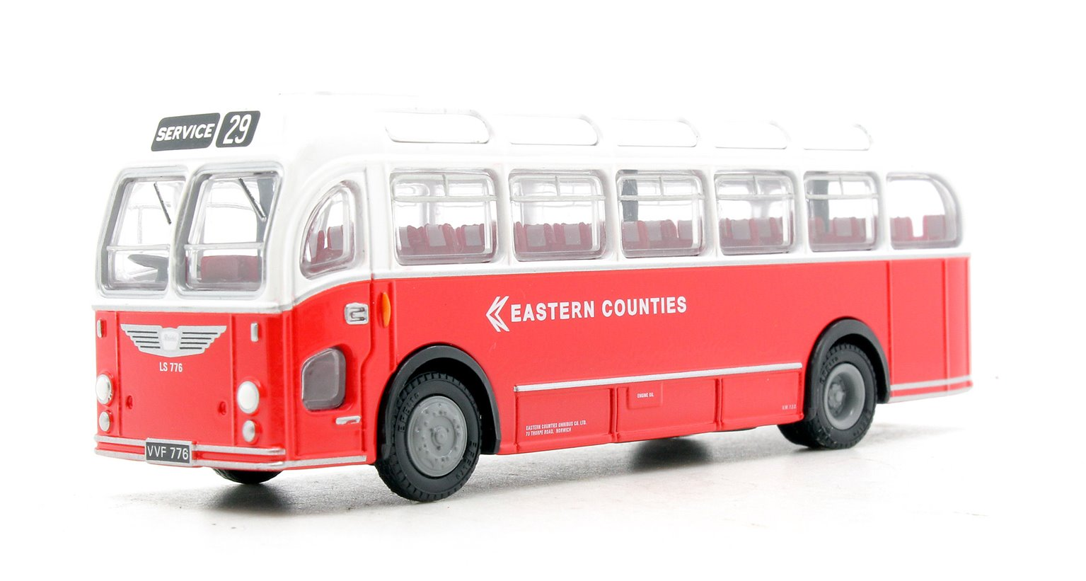 EFE 16222 Bristol LS Coach Eastern Counties Bus