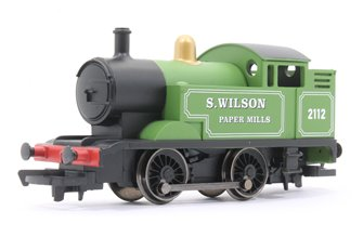 'S. Wilson Paper Mills' Green 0-4-0 Tank Locomotive No. 2112