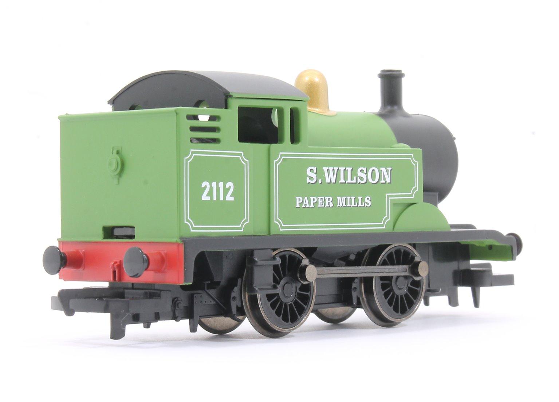 'S. Wilson Paper Mills' Green 0-4-0 Tank Locomotive No. 2112