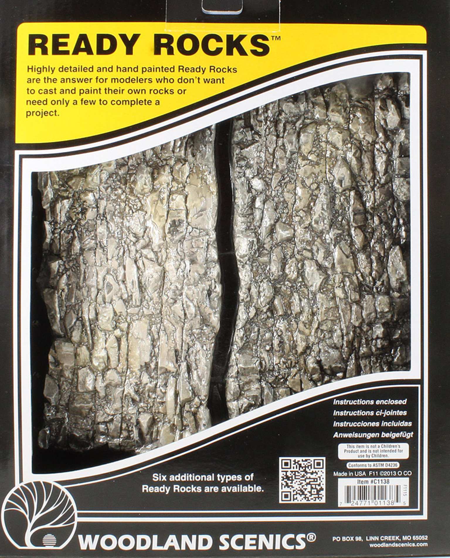 WC1138 Rock Face Ready Rocks - 4 Pieces (OO Gauge) by