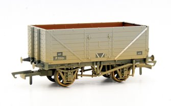 7 Plank Wagon - BR Weathered Grey P72521