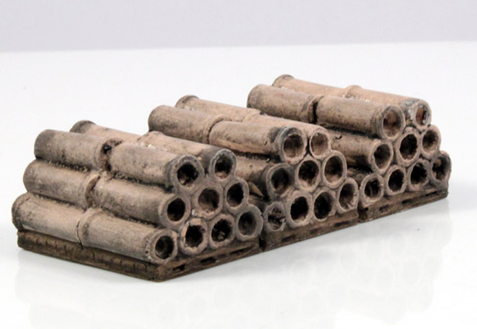 Terracotta Pipes on Pallet