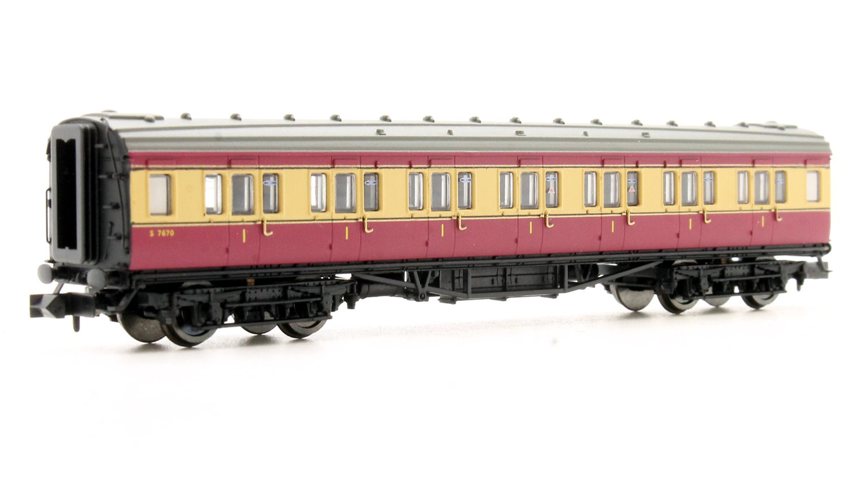 Maunsell Coach BR 1st Class Crimson & Cream 7670