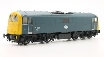 OO Scale Class 71 #71009 BR Blue with Full Yellow ends