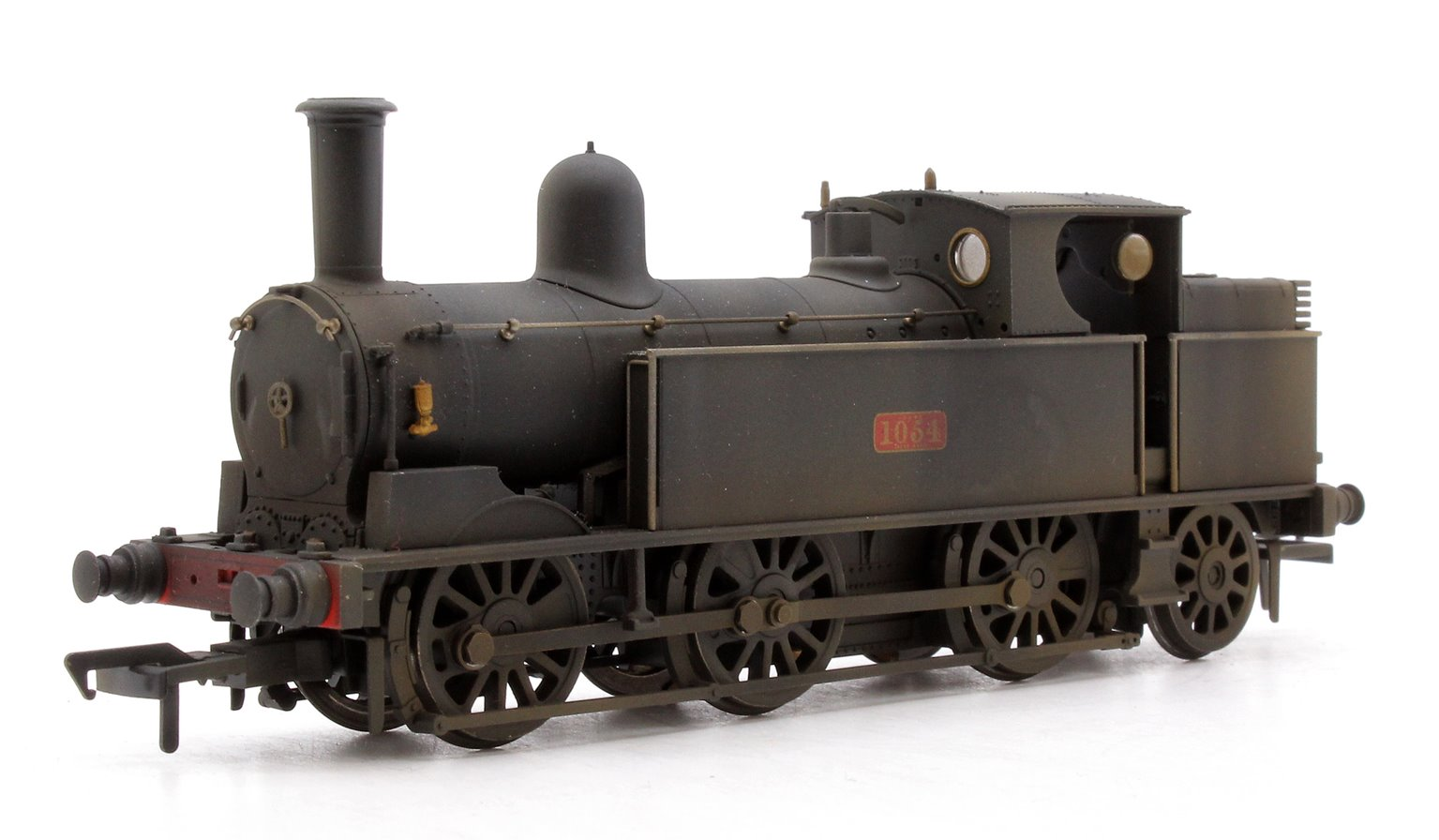 Custom Finished LNWR Webb Coal Tank LNWR Plain Black Locomotive 1054 Weathered
