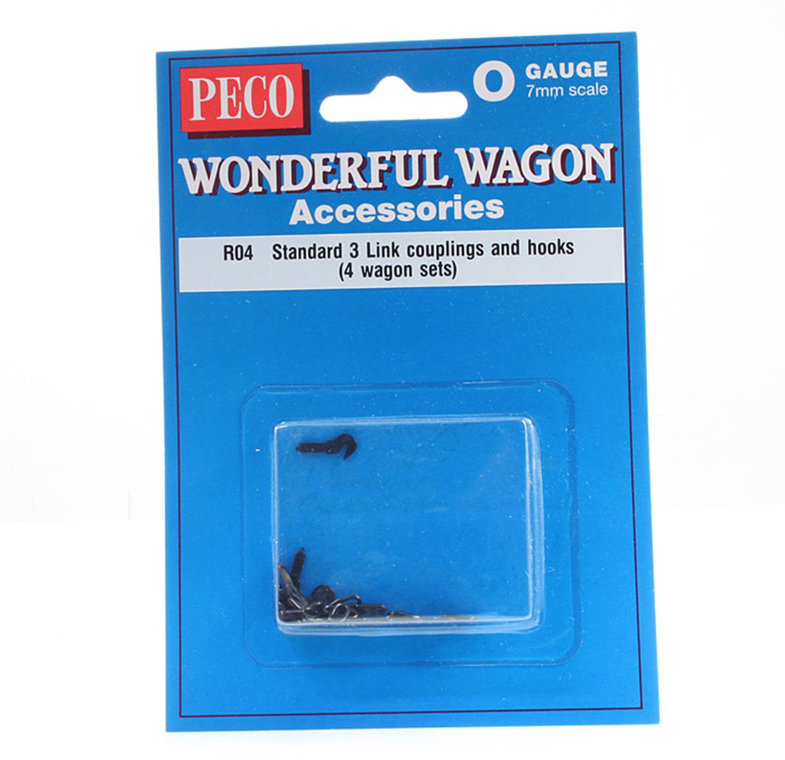Standard 3 Link couplings and hooks (4 wagon sets)