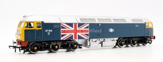 Class 47 164 BR Blue Union Jack Diesel Locomotive with wooden presentation box