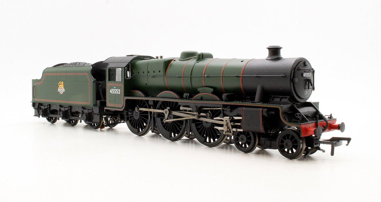 BR Green 'Silver Jubilee' Jubilee Class 4-6-0 Steam Locomotive 45552