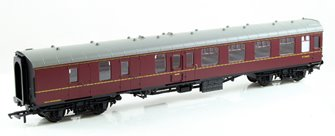 BR Mk1 Brake 2nd Class Coach - BR Maroon M34655
