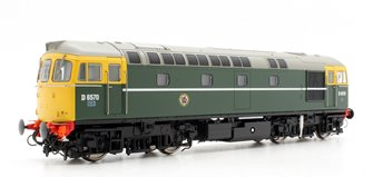 Class 33/0 (Early) #D6570 In BR Green Livery With Full Yellow Ends