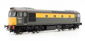 Class 33 33047 'Spitfire' In Engineers Grey/Yellow