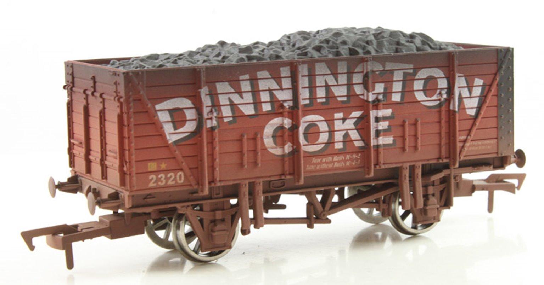 Dapol 9 Plank Wagon Dinnington Coke - Weathered