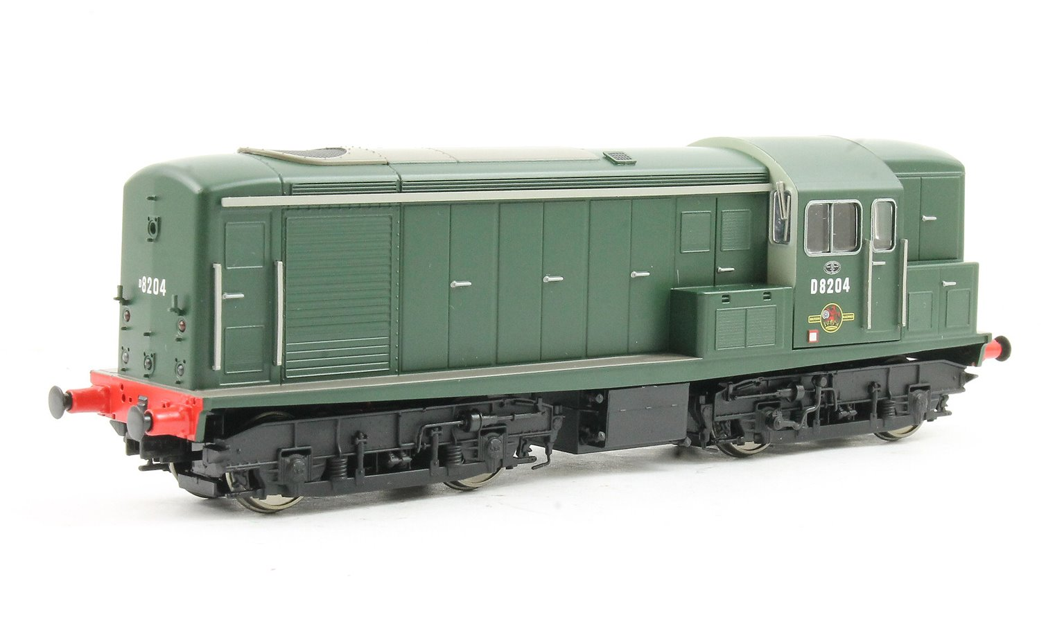 Class 15 D8204 in plain Green with numbers on front and rear