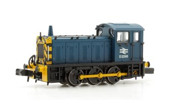 Class 04 D2295 BR Blue with Wasp Stripes Diesel Shunter Locomotive