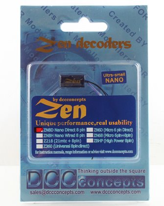 ZEN NANO 8 Pin Direct 4 Function Decoder w/Stay Alive