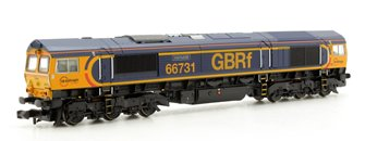 Class 66 (Low Emission Variant) 'InterhubGB' #66731 GBRf Diesel Locomotive