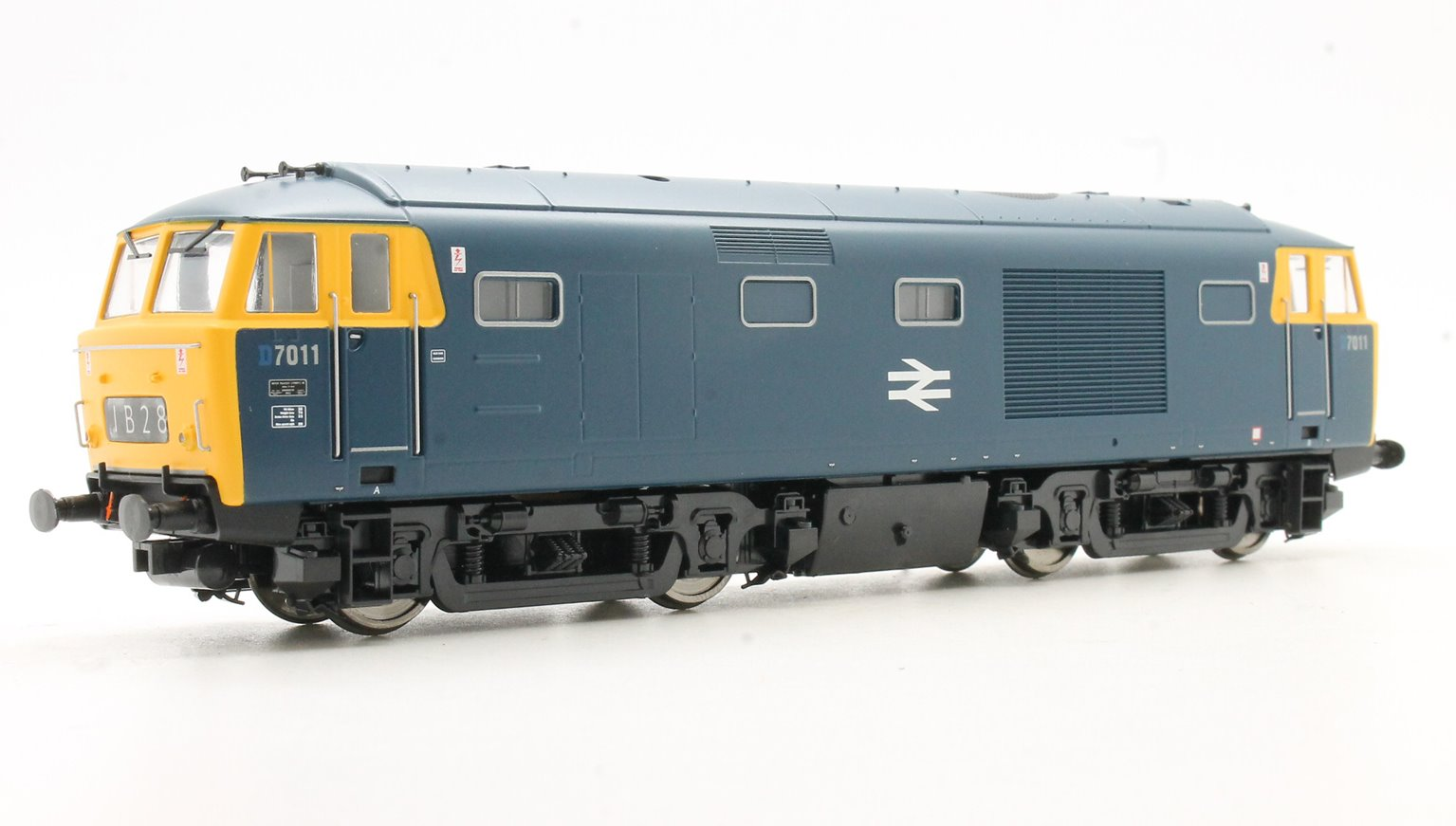 Class 35 D7011 in blue with full yellow ends