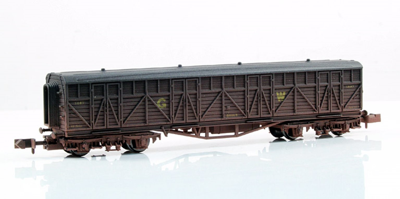 GWR Siphon G Van #1447 - Weathered