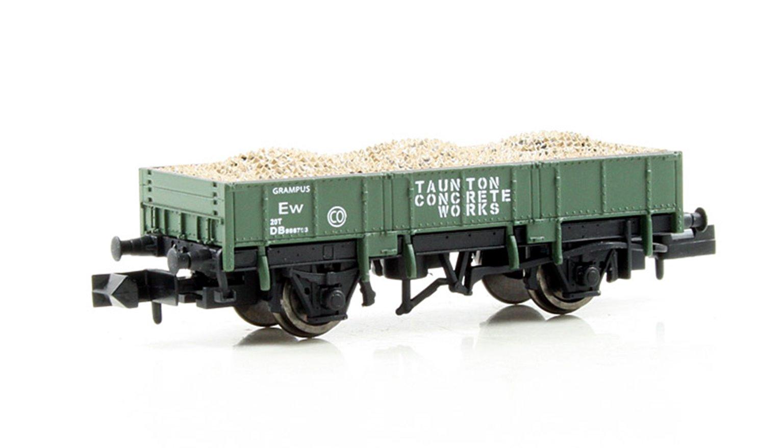 Dapol 2F-060-007 Grampus Wagon 'Taunton Concrete' #DB986703 Olive Green