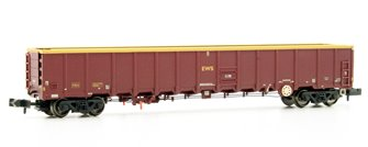 MBA Megabox High-Sided Bogie Box Wagon (no Buffers) EWS Wthd