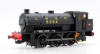 Class J94 0-6-0 Steam Locomotive  #8064 LNER with original bunker height