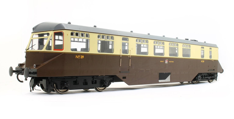 GWR AEC 'Razor Edge' Railcar GWR chocolate/cream (dark grey roof and GWR coat of arms) No.29