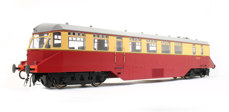 GWR AEC 'Razor Edge' Railcar BR crimson/cream (Dark Grey Roof) No.W21W