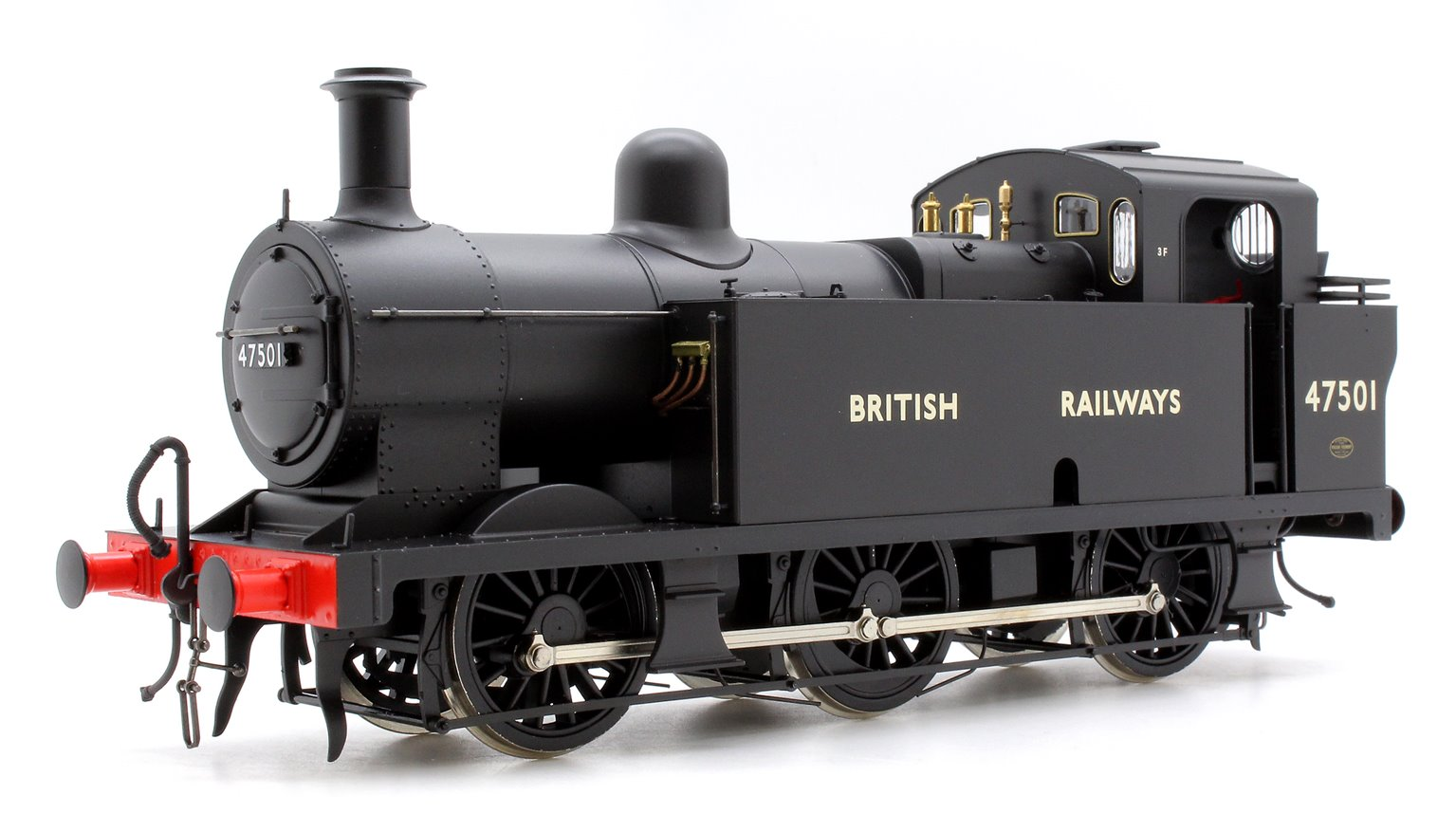 Class 3F 'Jinty' 0-6-0T in BR Black with 'BRITISH RAILWAYS' Lettering