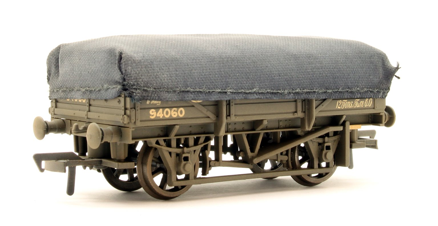 5 Plank China Clay Wagon with Hood GWR Grey Weathered