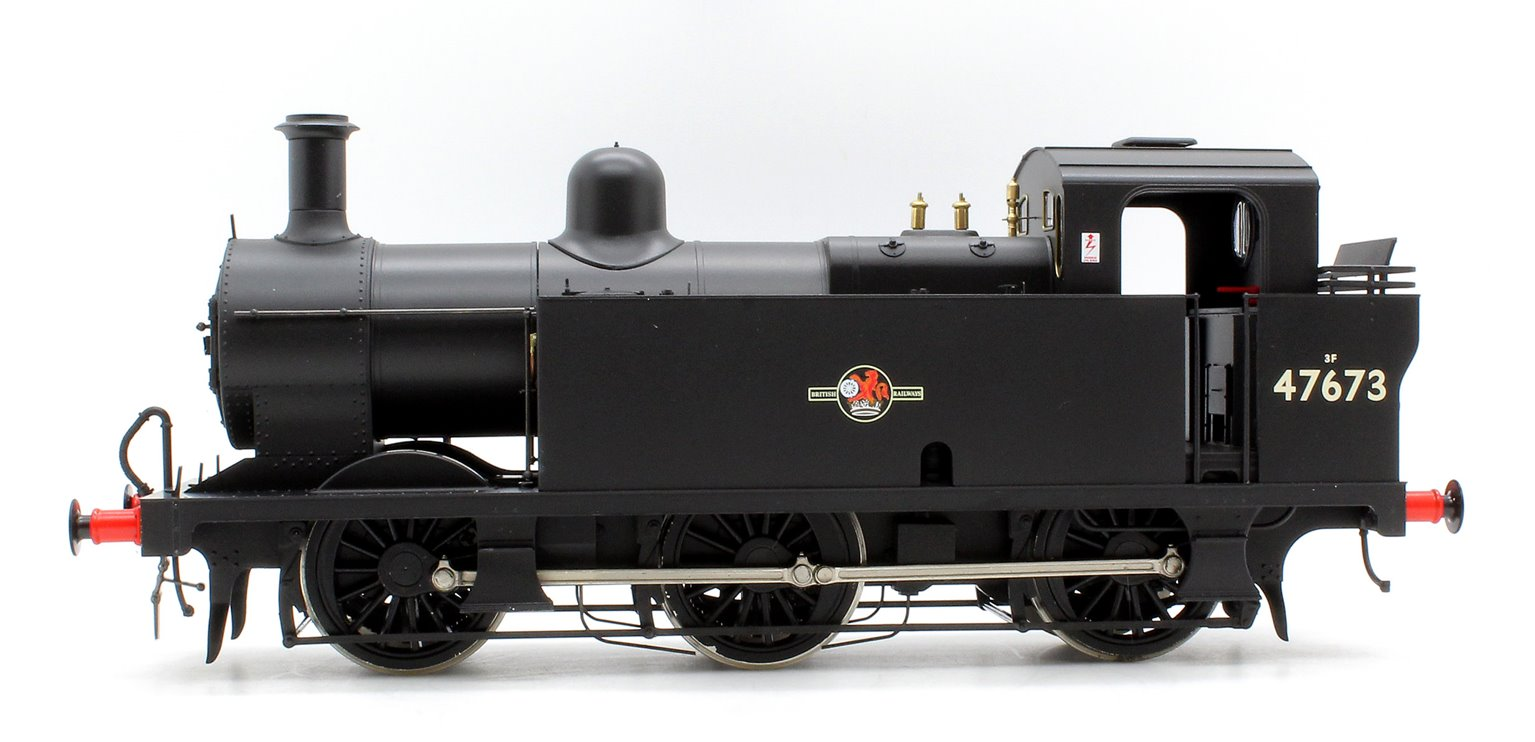 Class 3F 'Jinty' 0-6-0 47673 in BR Black With Late Crest