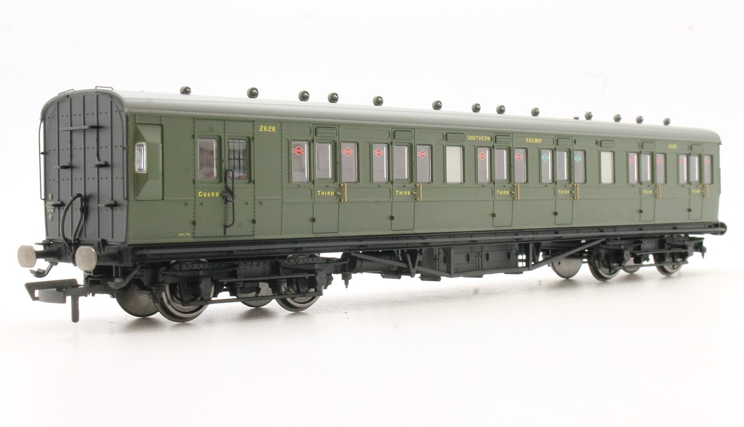 SR 58' Maunsell Rebuilt (Ex-LSWR 48�۪) Six Compartment Lavatory Brake Third Coach, SR Olive