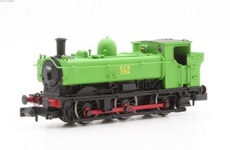 Class 57xx Pannier 0-6-0PT 7754 in National Coal Board green with original cab