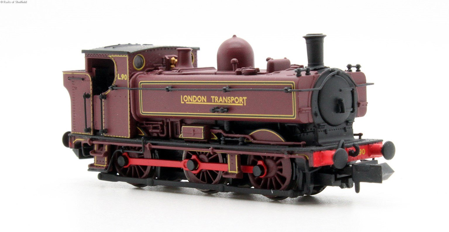 Class 57xx Pannier 0-6-0PT L90 in London Transport red with original cab - DCC fitted