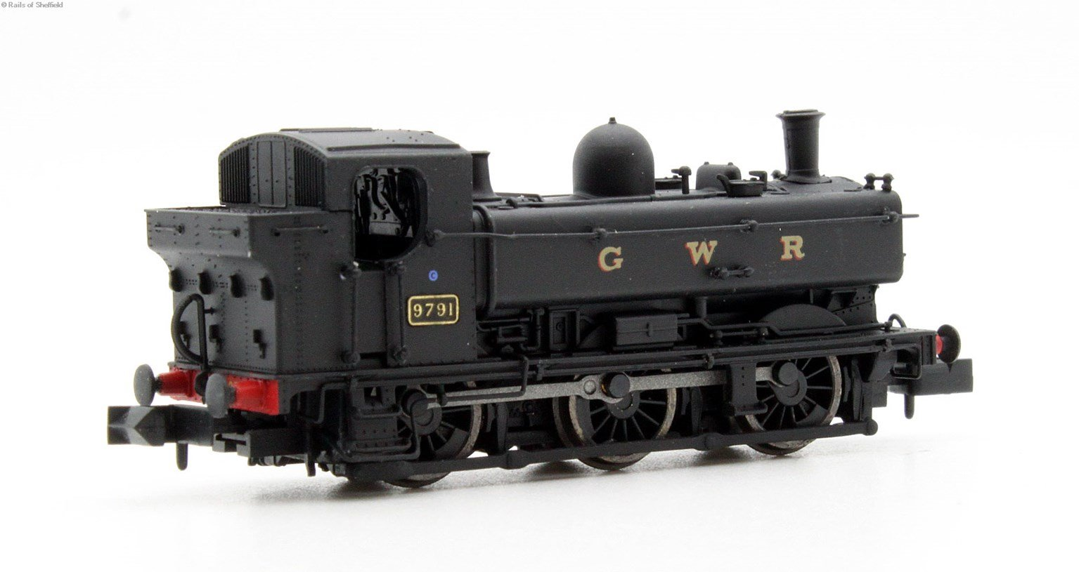 Class 57xx Pannier 0-6-0PT 9791 in GWR black with later cab - DCC Fitted